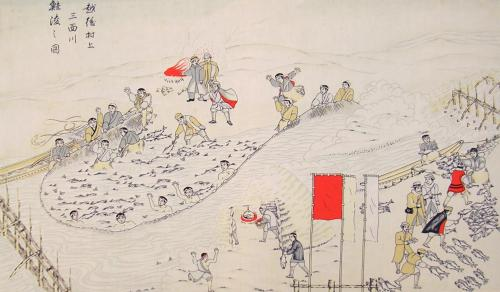 三面川の鮭漁