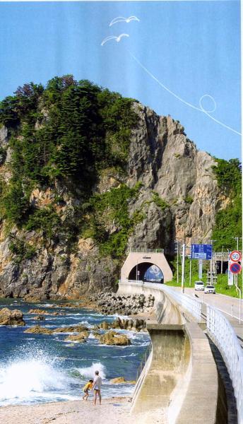 日本海側の中でも、特に絶景が続く笹川流れ