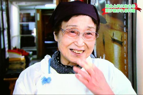 ヤンとは顔なじみ、大女将の上村八恵子さん