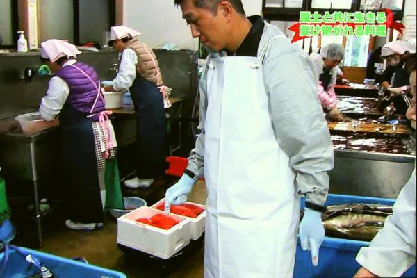 塩引き鮭作り