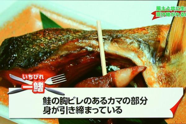 塩引き鮭の一鰭